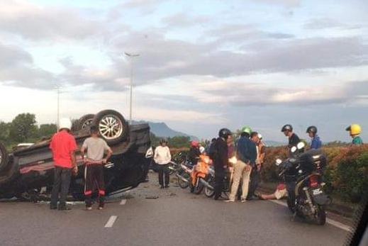 Pengarah eksekutif selamat kereta terbabas dan terbalik di Jalan Sultan Tengah
