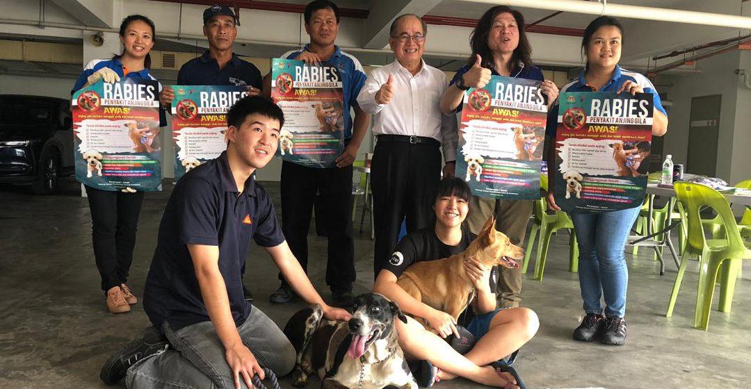 430 ekor anjing berjaya disuntik vaksin dalam Ops Anti Rabies