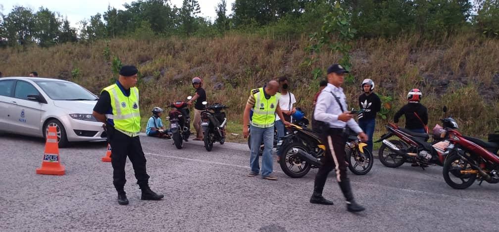 Lima buah motosikal disita dalam Ops Samseng Jalanan
