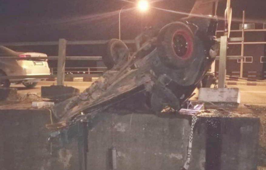 Kereta terputus dua kemalangan di Sibu