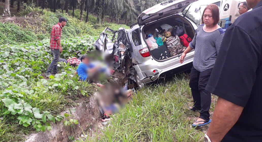 Tiga maut dalam kemalangan membabitkan kereta dan treler di Jalan Pesisir Bintulu – Miri