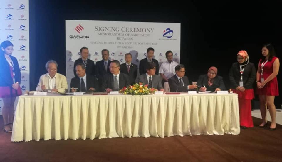 Bintulu Port dan Gafung Petroleum bekerjasama dalam perkhidmatan bunkering kapal