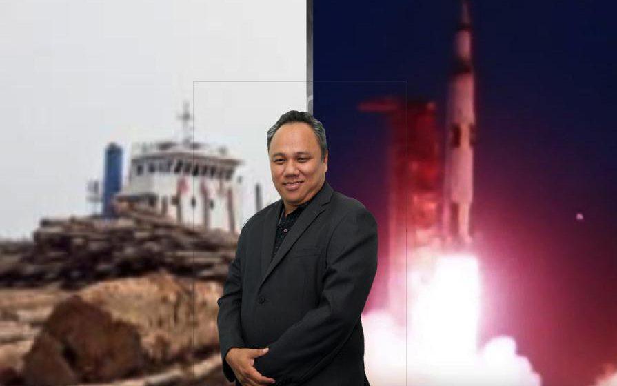 Kayu Sarawak sudah terbang ke bulan