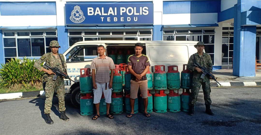 Dua lelaki Indonesia kantoi seludup gas memasak