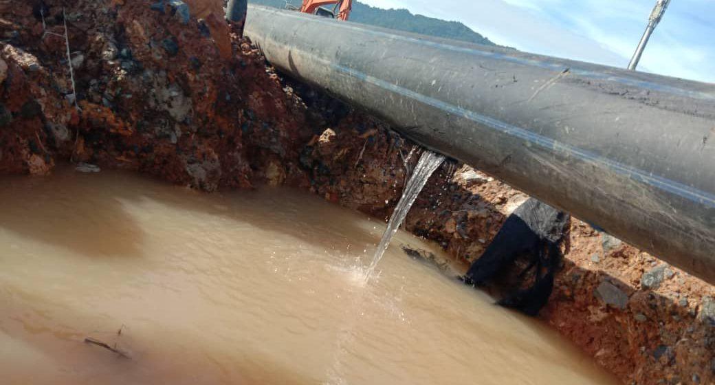 Paip bocor, beberapa kawasan di Serian dijangka mengalami gangguan air