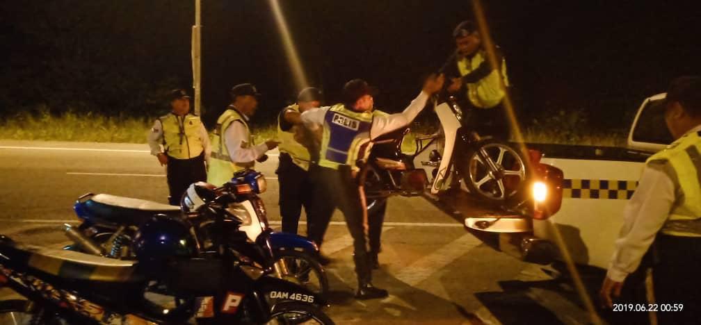 55 saman dikeluarkan dalam Ops Samseng Jalanan