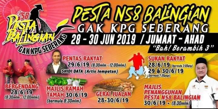 Pengerami Balingian diatur 28-30 June