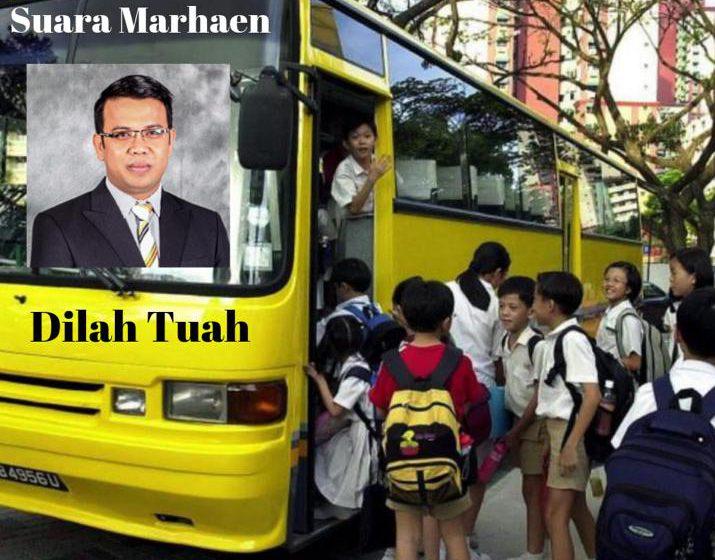 Bas sekolah percuma di Sarawak