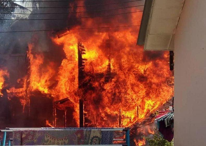 Rumah musnah terbakar di Kampung Melangangai
