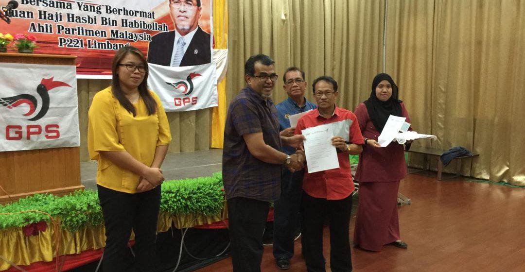Geran bernilai RM554,000 berjaya diserahkan Ahli Parlimen Limbang kepada penerima