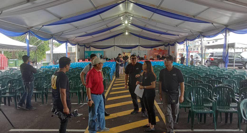 Persiapan terakhir majlis Sarawak Pay-BSN di Sebauh