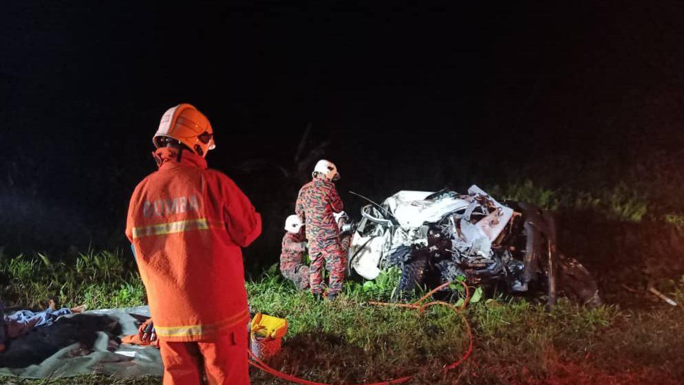 Seorang maut, dua kenderaan bertembung