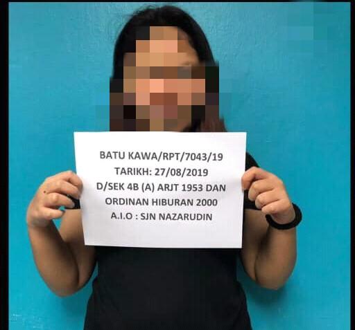 Wanita ejen Black Market ditahan