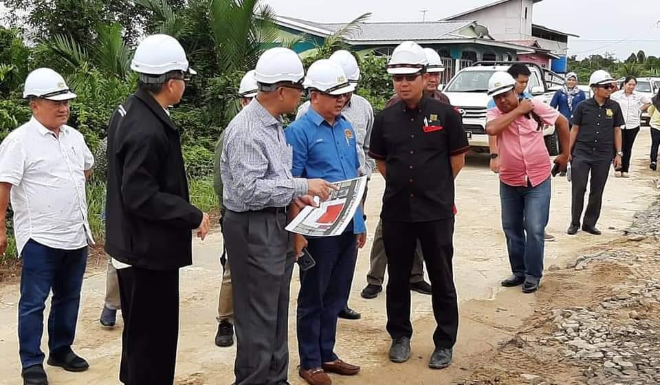 Persiapan majlis Pecah Tanah Jambatan Muara Lassa lancar