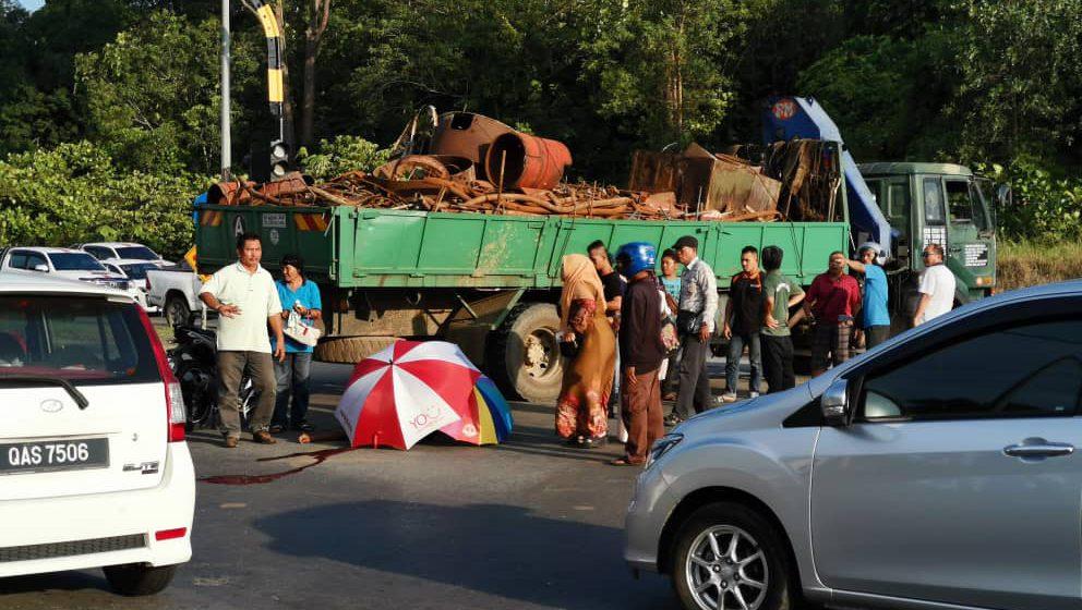 Lelaki maut motosikal bertembung lori besi di Bintulu