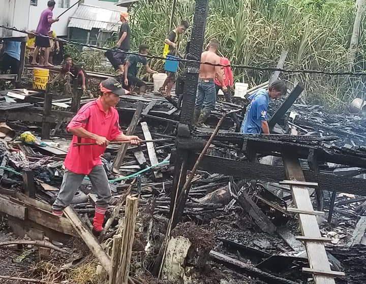 Enam tinggal sehelai sepinggang rumah PPRT musnah dalam kebakaran di Kampung Semop
