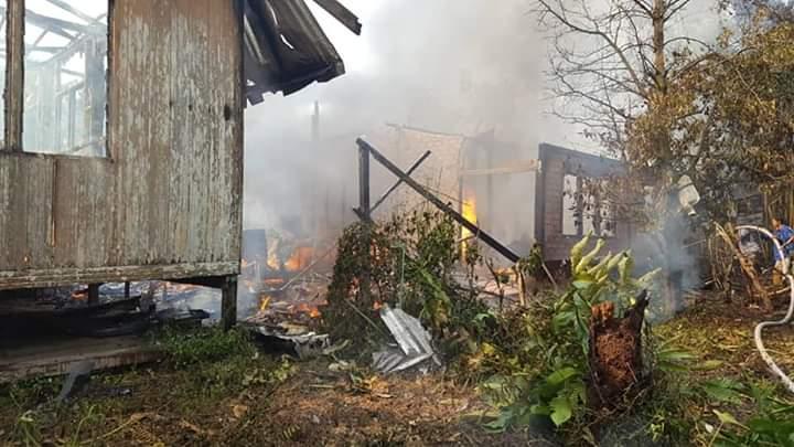 Rumah kayu musnah dijilat api di Oya