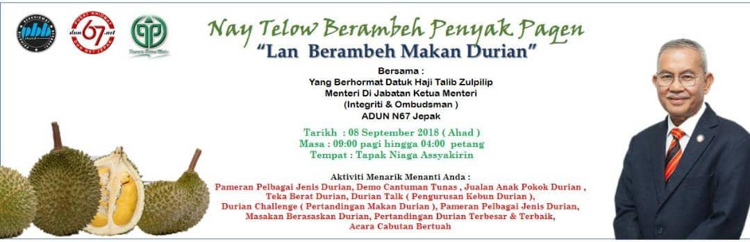 Program 'Nay Telow Berambeh Penyak Pagen' bakal diadakan Ahad ini