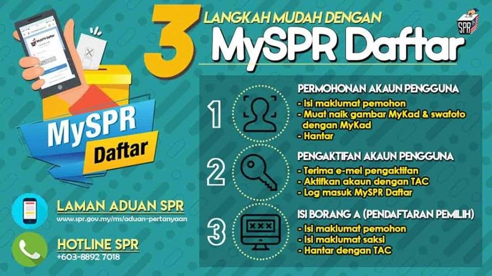 Aram rejista diatu ba MySPR Daftar