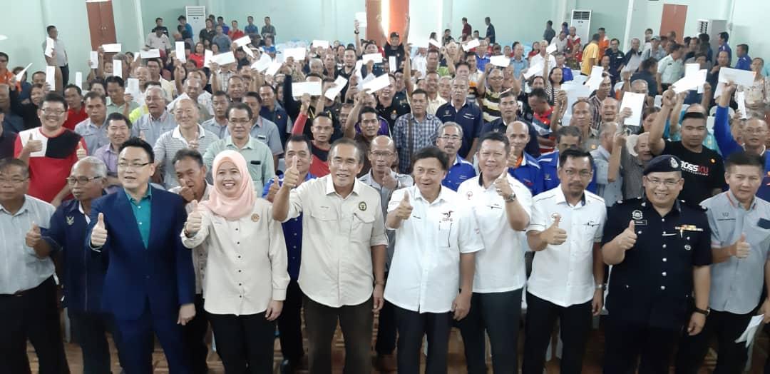 81 pemilik tanah di Pakan terima pampasan RM1.6 juta