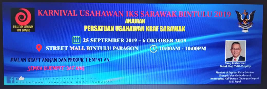 40 usahawan akan sertai Karnival Usahawan IKS Sarawak Bintulu 2019