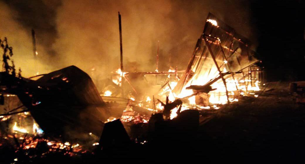 Rumah panjang terbakar di Mukah, 36 penghuni tinggal sehelai sepinggang