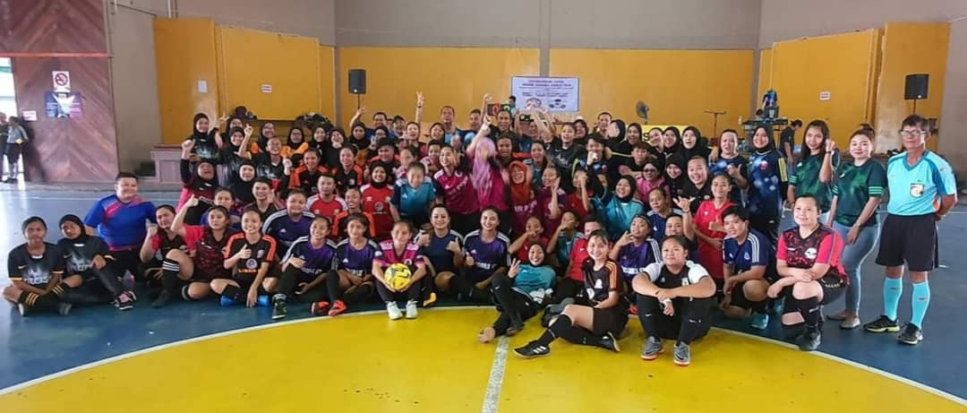 Kejohanan Futsal Wanita Sarikei 2019 meriah