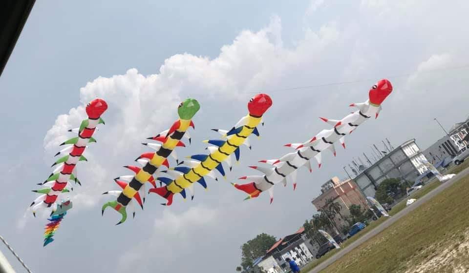 Festival Layang- Layang Antarabangsa Bintulu meriah