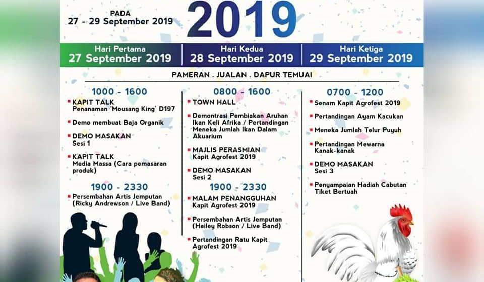 Aram sampal datai Agrofest Kapit 2019 ujung minggu tu