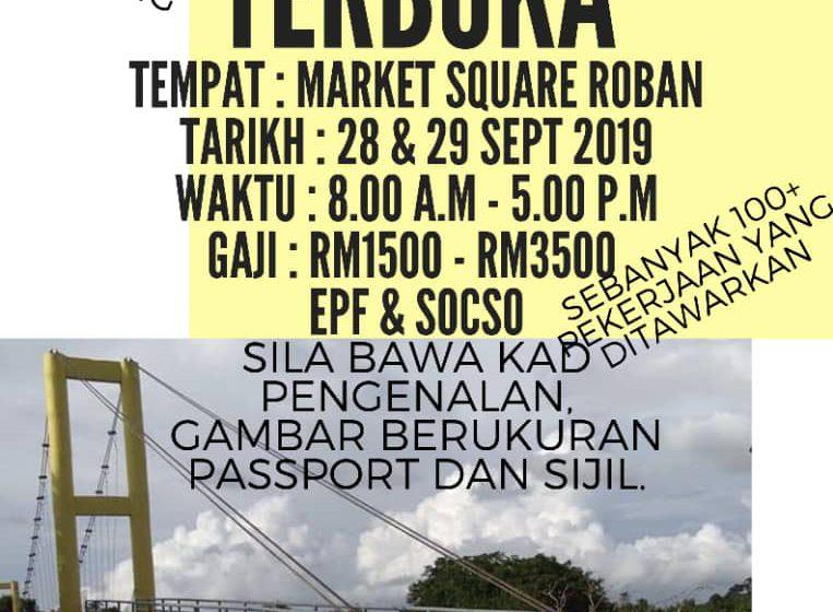 Berita baik buat pencari kerja di Sarawak