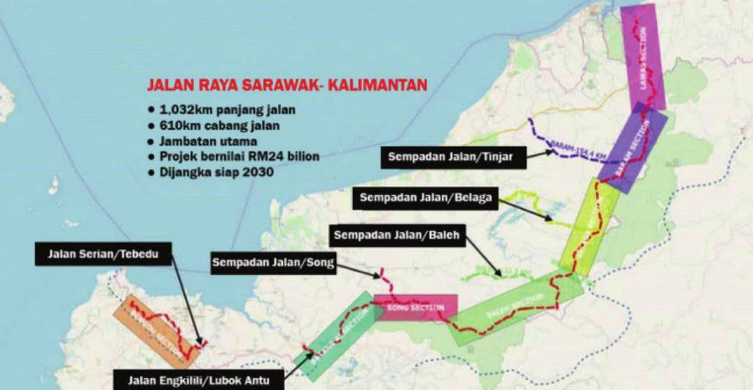 Projek Jalan raya Sarawak-Kalimantan bermula tahun depan