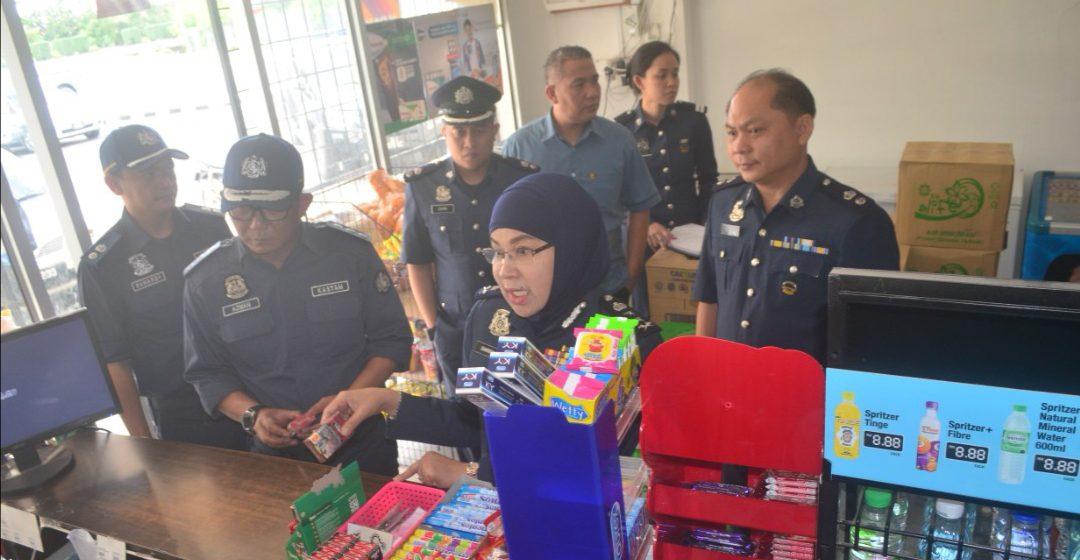 Dua warga tempatan ditahan dalam Operasi Outlet 2019 di Bintulu
