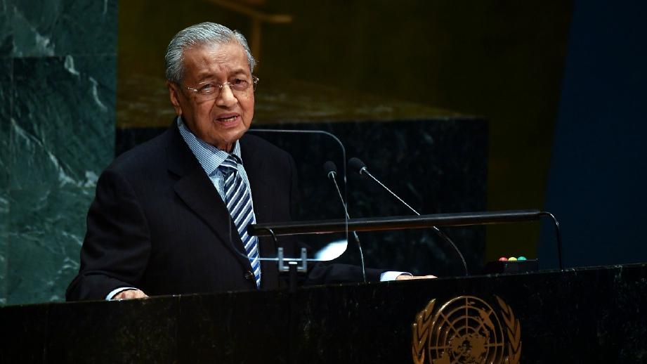 Tun M kembali membelasah di PBB