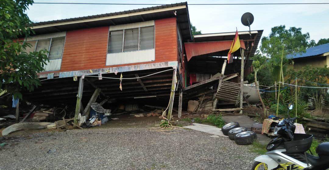 Sepuluh penghuni rumah cemas rumah runtuh jam tiga pagi