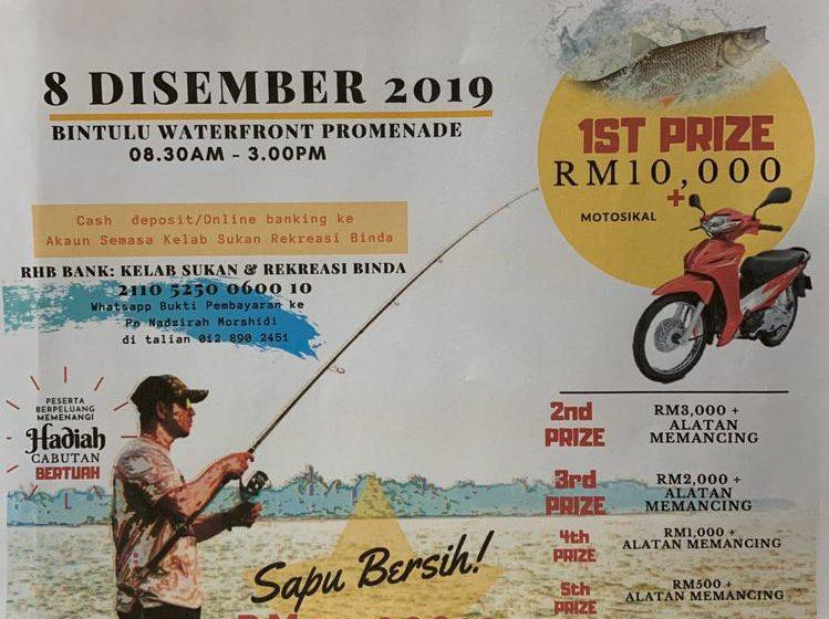 Wang RM24,000, peralatan pancing menanti pemenang Jom Ngail Bintulu 2.0