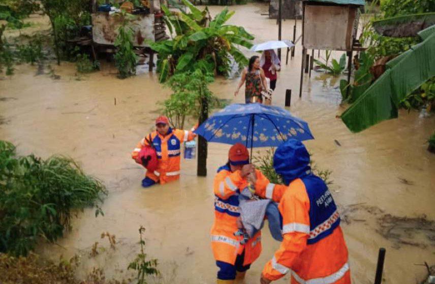 Hujan lebat tanpa henti, tiga buah kampung dilanda banjir