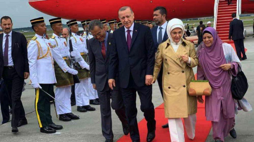 Erdogan tiba di Malaysia untuk Sidang Kemuncak KL 2019