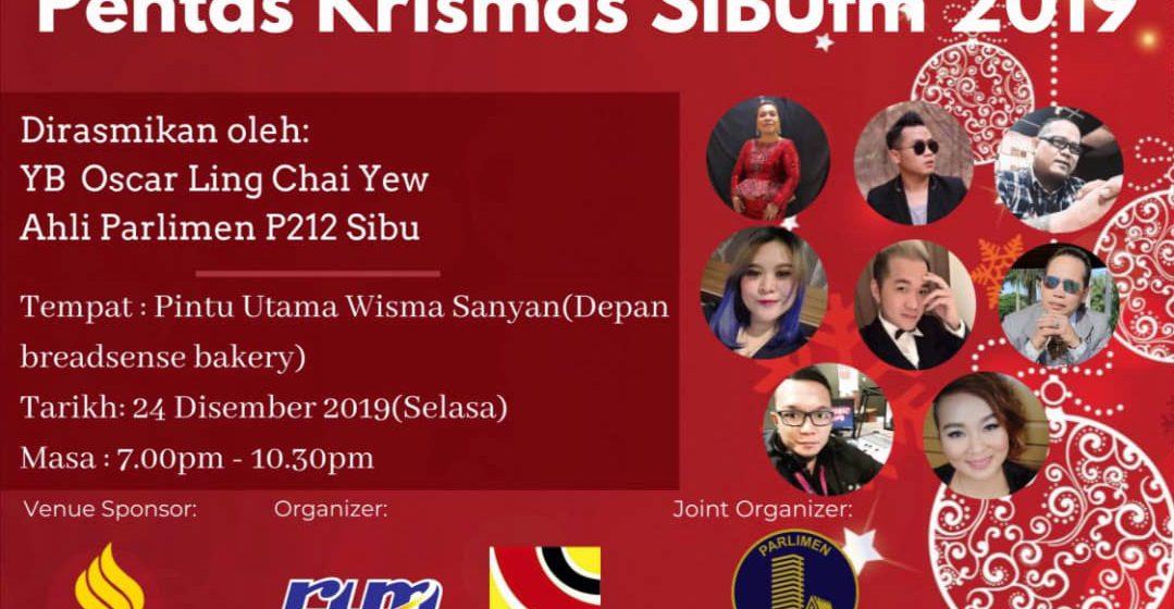Panggau Krismas SibuFM 24 Disember tu