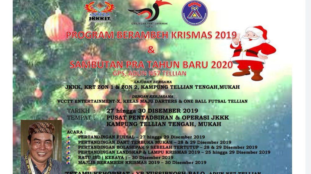 Jom meriahkan Program Berambeh Krismas 2019 di Mukah