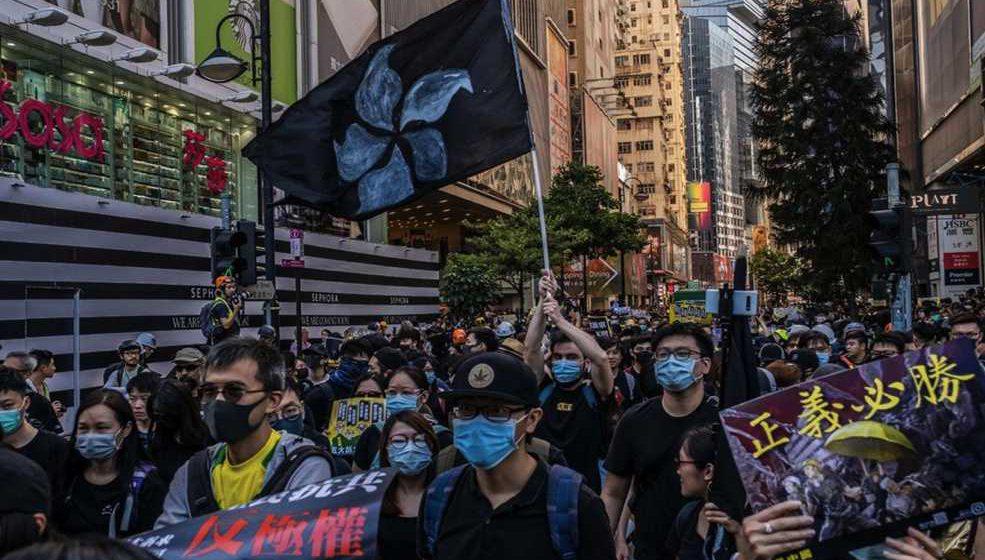 Lebih sejuta warga HK sambut 2020 dengan protes