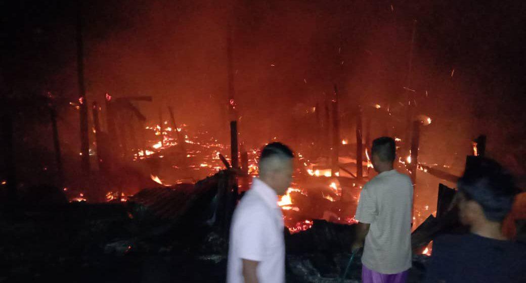 Dua beranak rentung dalam kebakaran rumah di Sekaan Kecil