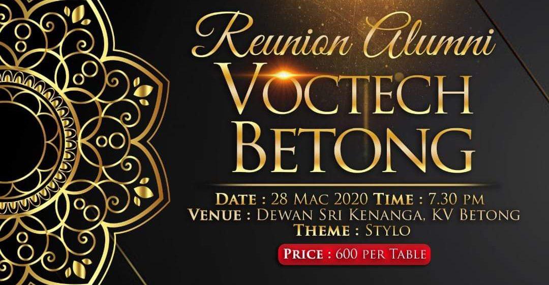 Alumni Voctech Betong begempuru 28 March tu
