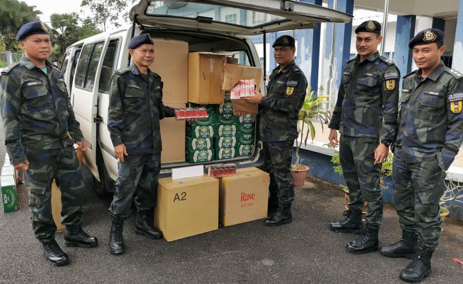 PGA berjaya rampas rokok, minuman keras bernilai RM723,600 di Betong