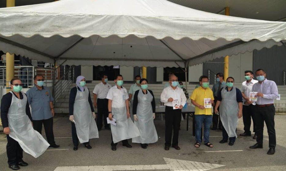 Klinik Respitori beroperasi  di Stadium Tertutup