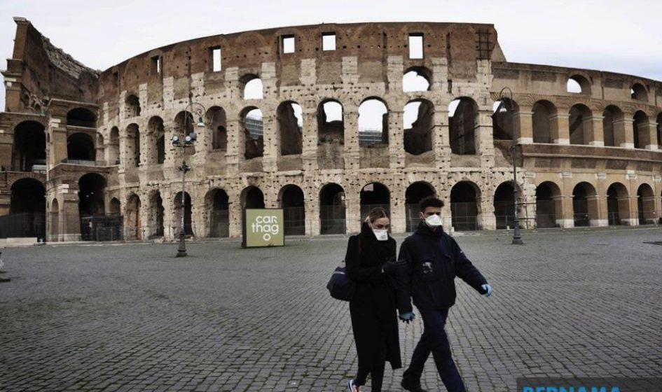 Itali rekod 10,779 kematian, 97,689 kes jangkitan