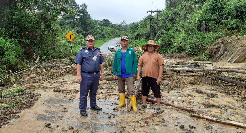 Dua jalan utama di Betong terjejas akibat hujan