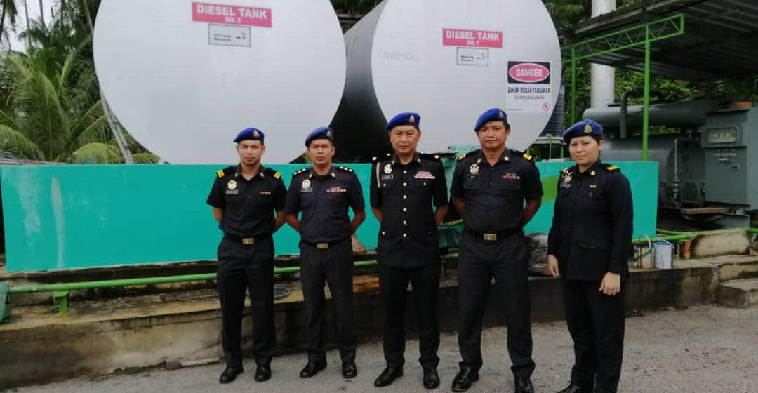 5,500 liter minyak diesel tanpa permit berjaya disita di Mukah