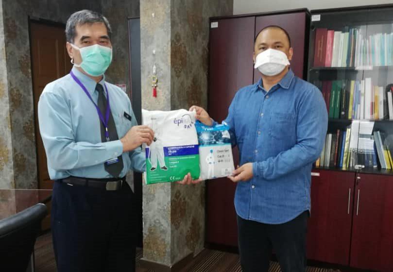 Syarikat korporat beri 100 PPE untuk HUS