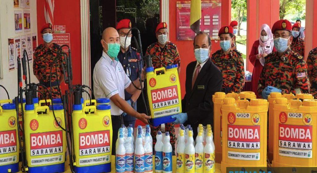Petronas sumbang peralatan sanitasi kepada Bomba Sarawak