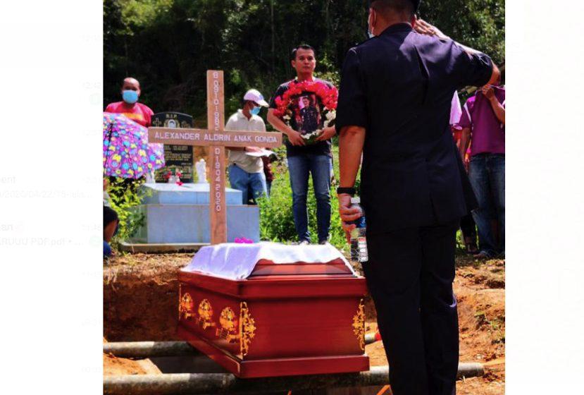 Mendiang ASP Aldrin Gonda selamat dikebumikan